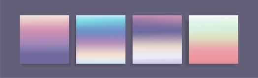 Texturas olográficas coloridas de las pendientes del estilo fijadas libre illustration