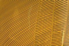 Texturas onduladas amarillas y negras Imagen de archivo