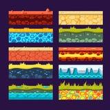 Texturas para los juegos plataforma, sistema del vector libre illustration