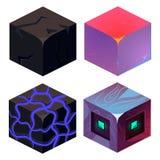 Texturas para o grupo do vetor da amostra dos ícones de Platformers ilustração stock