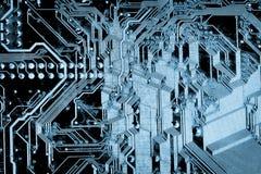 Texturas: Placa de circuito de Grunge Fotos de Stock Royalty Free