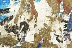 Texturas rasgadas do grunge dos cartazes Foto de Stock