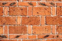 Texturas rojas de la pared de ladrillo Fotografía de archivo