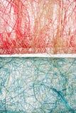 Texturas rojas y azules del acoplamiento Foto de archivo