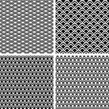Texturas sem emenda da escala de peixes ajustadas. Imagem de Stock