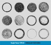 Texturas tiradas mão da circular do vintage Fotografia de Stock