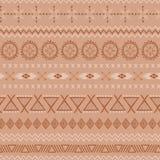 Texturas tribales étnicas del mexicano del marrón inconsútil del vector del extracto del modelo del café en color del caramelo stock de ilustración