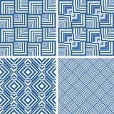Texturas verificadas geométricas sem emenda ajustadas Foto de Stock Royalty Free