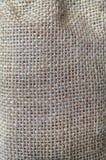 Texturas y detalles el fondo de la harpillera Fotografía de archivo