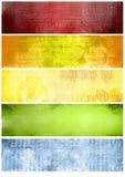 Texturas y fondos del arco iris para las banderas Fotos de archivo