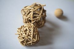 Texturas y objetos de madera de la decoración Foto de archivo libre de regalías
