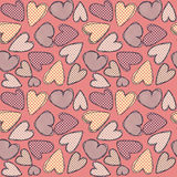 Texturate hearts. Pink seamless background with hearts Stock Illustration