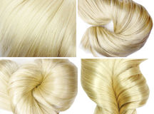 Texturbakgrund för blont hår Royaltyfri Foto