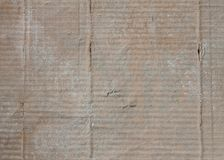 Texturbakgrund för korrugerat papper Arkivfoton