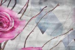 Texturbakgrund för naturligt tyg av den siden- halsduken royaltyfria foton