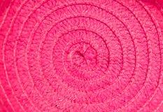 Texturbakgrund för naturligt tyg av den vävde hatten arkivfoto