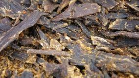 Texturbakgrund för torkat nötkött Arkivfoto