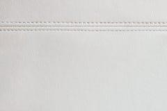 Texturbakgrund för vitt läder Royaltyfria Bilder