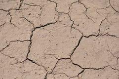 Texturbakgrund - torka sprucken jord Royaltyfria Foton