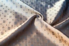 Texturbakgrundsmodell Brunt siden- tyg Abstrakt backgrou Royaltyfri Bild