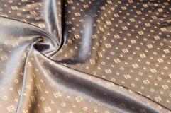 Texturbakgrundsmodell Brunt siden- tyg Abstrakt backgrou Royaltyfri Fotografi