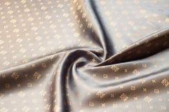 Texturbakgrundsmodell Brunt siden- tyg Abstrakt backgrou Fotografering för Bildbyråer