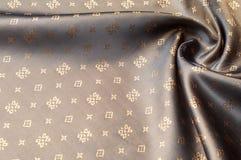 Texturbakgrundsmodell Brunt siden- tyg Abstrakt backgrou Royaltyfria Bilder