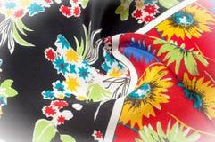 Texturbakgrundsmodell Fint siden- tyg, blom- modell te Royaltyfri Fotografi