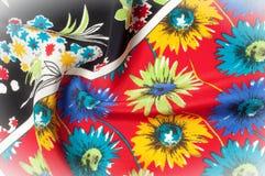 Texturbakgrundsmodell Fint siden- tyg, blom- modell te Royaltyfria Bilder