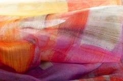 Texturbakgrundsmodell Siden- tunt tyg, abstrakt modellnolla Arkivbilder