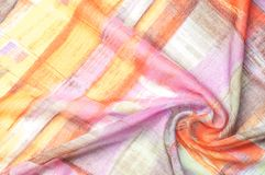 Texturbakgrundsmodell Siden- tunt tyg, abstrakt modellnolla Royaltyfri Bild