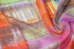 Texturbakgrundsmodell Siden- tunt tyg, abstrakt modellnolla Arkivfoton