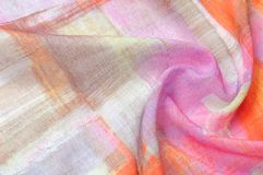 Texturbakgrundsmodell Siden- tunt tyg, abstrakt modellnolla Royaltyfri Fotografi