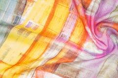 Texturbakgrundsmodell Siden- tunt tyg, abstrakt modellnolla Royaltyfria Bilder