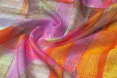 Texturbakgrundsmodell Siden- tunt tyg, abstrakt modellnolla Arkivbild