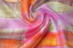 Texturbakgrundsmodell Siden- tunt tyg, abstrakt modellnolla Royaltyfria Foton
