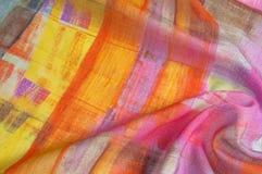 Texturbakgrundsmodell Siden- tunt tyg, abstrakt modellnolla Royaltyfri Foto