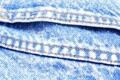 Texturblått av jeans Royaltyfria Foton