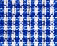 Texture à carreaux bleue de tissu images stock