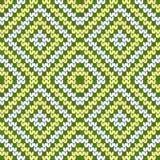 Texture à motifs de losanges sans couture verte et jaune Photos libres de droits
