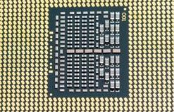 Texture à plusieurs noyaux moderne de CPU images stock