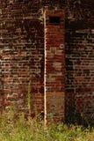 Texture âgée de briques en dehors d'un four photo libre de droits