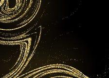 Texture élégante de mode sur le noir Conception brillante de miroitement illustration de vecteur