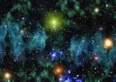 Texture étoilée de fond d'espace extra-atmosphérique Image libre de droits