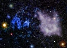 Texture étoilée de fond d'espace extra-atmosphérique Images libres de droits
