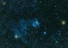 Texture étoilée de fond d'espace extra-atmosphérique Espace lointain Photos stock