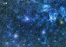 Texture étoilée de fond d'espace extra-atmosphérique Espace lointain Images libres de droits
