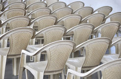 Texture. Of chairs on the indoor view Royalty Free Stock Photos