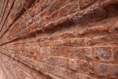 Texture. Convergent lines of a brick wall Stock Image