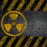 Texture. The texture of the sign of radiation Stock Photos